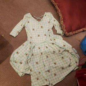 Bumblebee teal dress